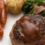 「ハンバーグ」でやせる効果がある食べ物は余分脂質を排出する「海苔」