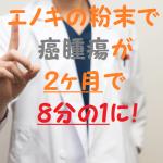 大腸がんがエノキの粉末を飲んだら腫瘍が2ヶ月で8分の1に