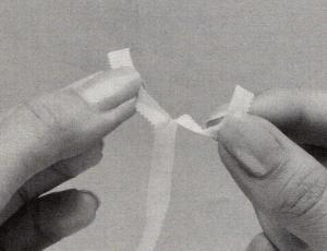 テープの裂き方