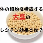 大豆のレシチンはボケ・物忘れ・動脈硬化・肝硬変を改善する!